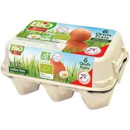 Bio Moisson Œufs frais la boite de 6
