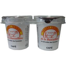 Yaourt au lait entier des Pyrénées au café