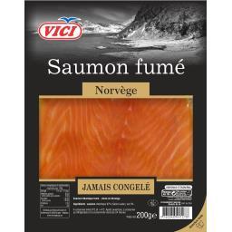 Vici Saumon fumé Norvège la barquette de 4 tranches - 200 g