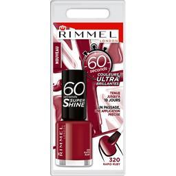 Rimmel London 60 Sec Super Shine - Vernis à ongles Rapid Ruby 320