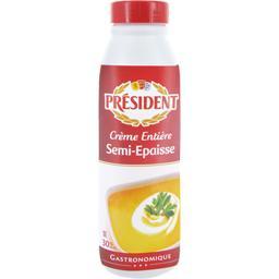 Crème entière semi-épaisse uht 30% de matière grasse