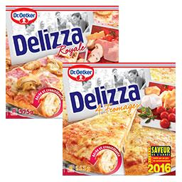 Pizza delizza royale + delizza 4 fromages