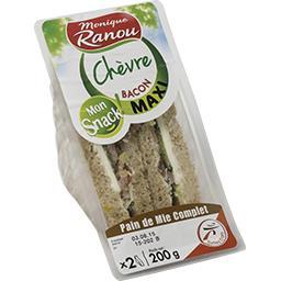 Sandwich chèvre bacon maxi - Mon Snack !