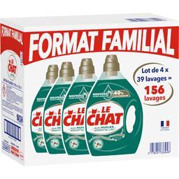 Le Chat Lessive liquide aux huiles essentielles le lot de 4 bidons de 1,95 l -