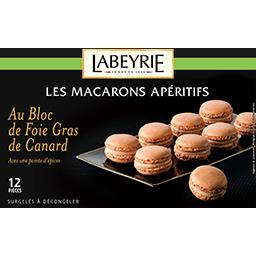 Les Macarons Apéritifs au bloc de foie gras de canard