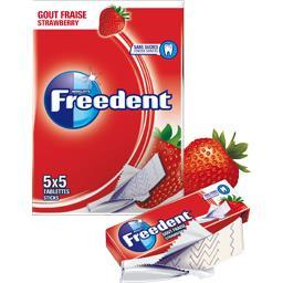 Chewing-gum goût fraise sans sucres