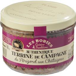 Les Bories Authentique terrine de campagne de Périgord aux Chât... la boite de 180 g