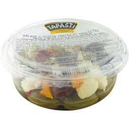 Tapasti Salade d'olives vertes et violettes la barquette de 124 g net égoutté