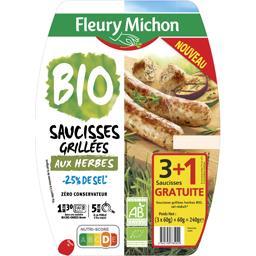 Saucisses grillées aux herbes sel réduit BIO