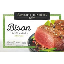 Pavés bison marinés 3 poivres