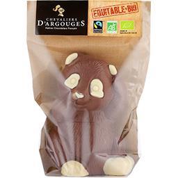 Chevaliers d'Argouges Panda au chocolat au lait 37% de cacao BIO le sachet de 90 g