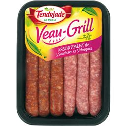 Assortiment Veau-Grill de 3 saucisses et 3 merguez