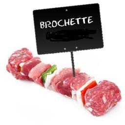 Brochettes de VIANDE BOVINE EXTRA TENDRE, poivrons e...