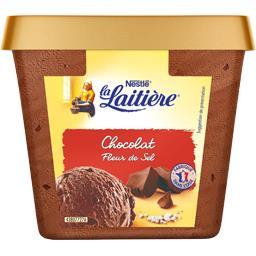 Crème glacée chocolat fleur de sel