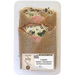 Galettes jambon champignons de Paris & emmental