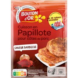 Cuisson en papillote pour côtes de porc goût barbecu...