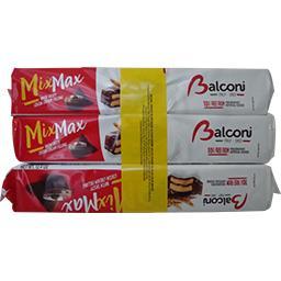 Balconi Mix Max, mini génoises fourrées et enrobées au cacao le lot de 2 paquets - 1050g