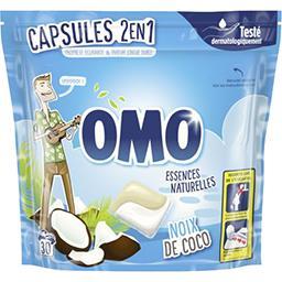Capsules de lessive liquide 2 en 1 Rêve de coco