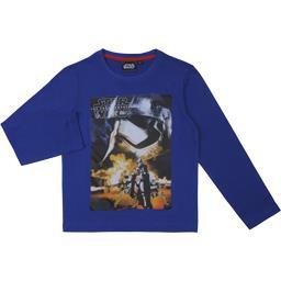 Tee-shirt garçon bleu manches longues taille 10 ans