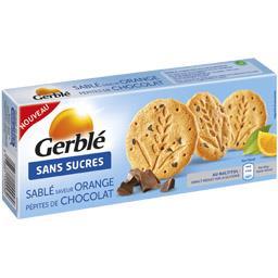 Sablé saveur orange pépites de chocolat s/sucres