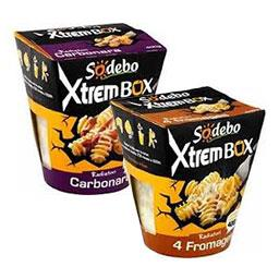 Pasta box x'trem radiatori à la carbonara + fromages italien