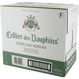 Cellier des Dauphins Côtes du Rhône Prestige, vin blanc les 6 bouteilles de 75 cl