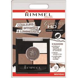 Rimmel London Glam'Eyes HD - Ombre à paupières 023 Foggy Grey la boite de 3,8 g