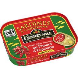 Sardines à l'ancienne à l'huile d'olive piment d'Esp...