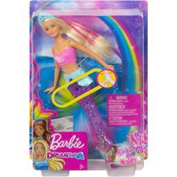 Barbie Poupée sirène lumières & danse aquatique blonde la poupée