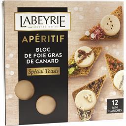 Labeyrie Apéritif - Bloc de foie gras de canard spécial toast... le paquet de 12 tranches - 90 g