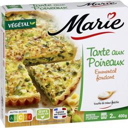 Marie Tarte aux poireaux emmental fondant