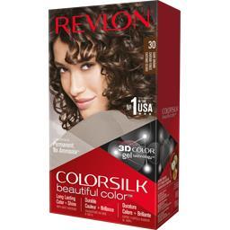Revlon Color Silk - Coloration permanente 30 Châtain foncé la boite de 130 ml