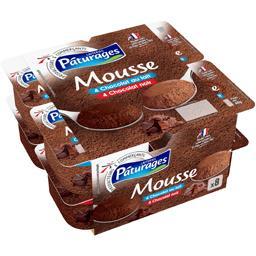 Mousse chocolat au lait & noir