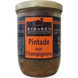 Biraben Pintade aux champignons le bocal de 720 g
