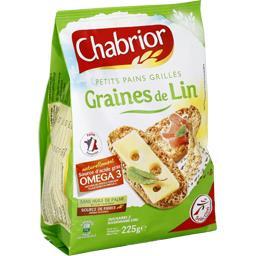 Petits pains grillés graines de lin