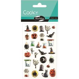 Gommettes adhésives Cooky Halloween 7,5x12 cm