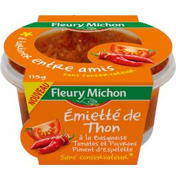 Emietté de thon à la basquaise tomates et poivrons
