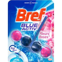 WC - Bloc WC Blue Activ' fleurs roses