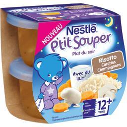 P'tit Souper - Plat du soir risotto carottes champig...