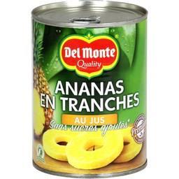 Ananas en tranches au jus sans sucres ajoutés