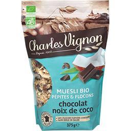 Muesli BIO pépites & flocons chocolat noix de coco