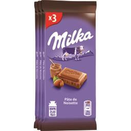 Chocolat au lait pâte de noisette