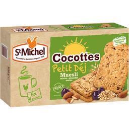 Biscuits Muesli raisins amandes avoine - Cocottes Petit Déj
