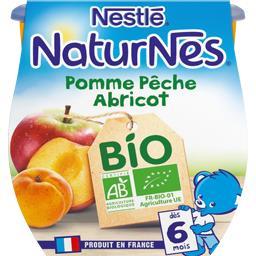 Dessert pomme pêche abricot BIO, dès 6 mois
