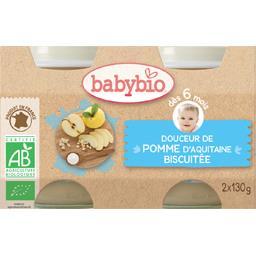 Desserts douceur de pomme biscuitée BIO, dès 6 mois