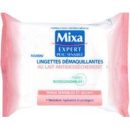 Expert Peau Sensible - Lingettes démaquillantes au lait antidessèchement