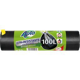 Sacs poubelle liens coulissants ultra résistants 100...