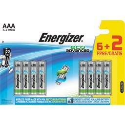 Energizer Eco Advanced - Piles alcalines AA LR6 1,5V le lot de 6 piles