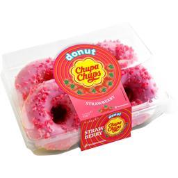Donut fourré goût fraise - x4