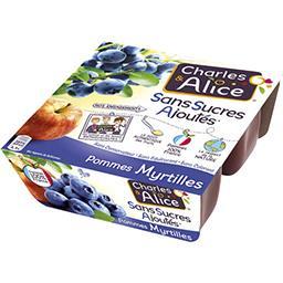 Pommes myrtilles sans sucres ajoutés